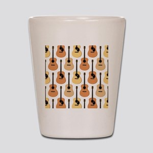 Acoustic Guitars Pattern Shot Glass