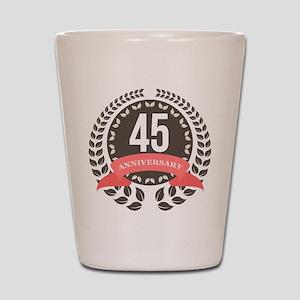 45Years Anniversary Laurel Badge Shot Glass