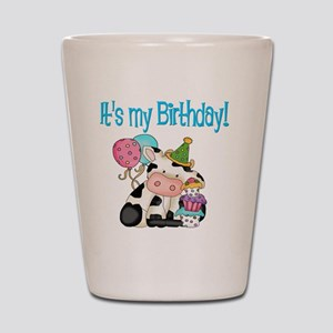 birthday cow Shot Glass