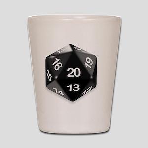 d20 t-shirt Shot Glass