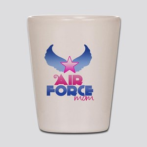 Pink Airforce Mom Shot Glass