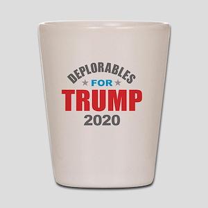 Deplorables for Trump 2020 Shot Glass
