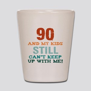 90th Birthday For Parents Shot Glass