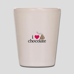 I Love Chocolate/Hug Shot Glass