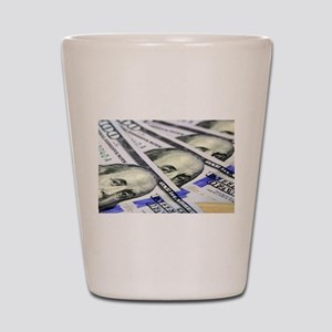 US Currency One Hundred Dollar Bill Shot Glass