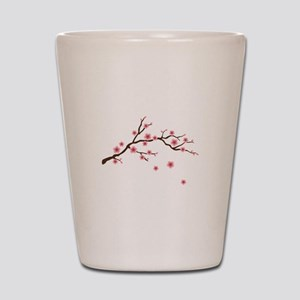 Cherry Blossom Flowers Branch Shot Glass