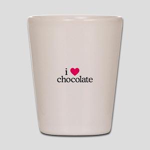 I Love Chocolate Shot Glass