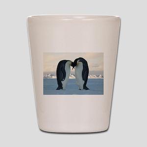 Emperor Penguin Courtship Shot Glass