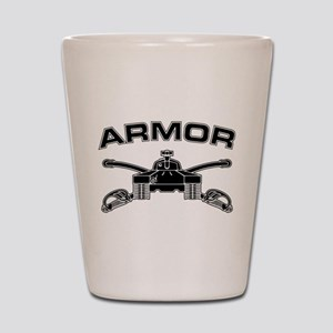 Armor Branch Insignia (BW) Shot Glass