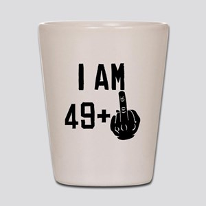 Middle Finger 50th Birthday Shot Glass