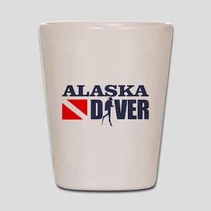 Alaska Diver Shot Glass