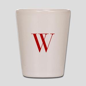 W-bod red2 Shot Glass