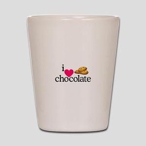 I Love Chocolate/Cookies Shot Glass
