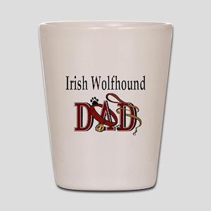 Irish Wolfhound Dad Shot Glass