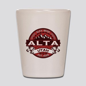 Alta Red Shot Glass