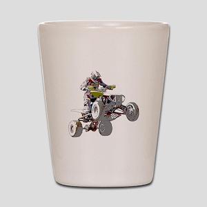 ATV Racing (color) Shot Glass