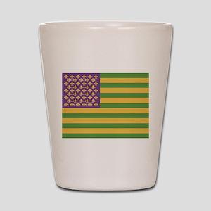 South Acadian Flag Shot Glass