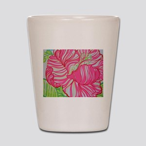 Hibiscus in Lilly Pulitzer Shot Glass