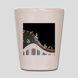 Ivory Keys Piano Music Shot Glass