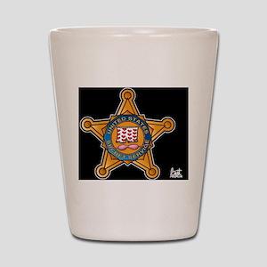 Secret Service Badge Shot Glass