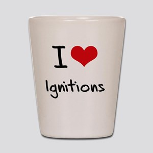 I Love Ignitions Shot Glass