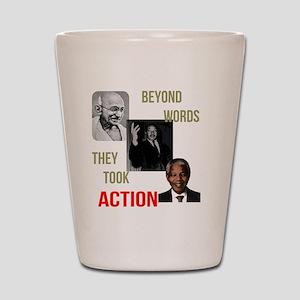 Gandhi MLK Madela Shot Glass
