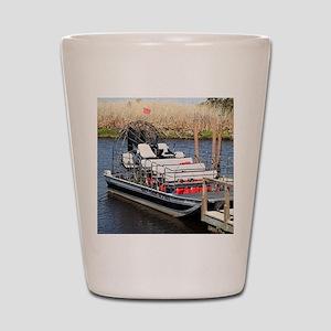 Florida swamp airboat Shot Glass