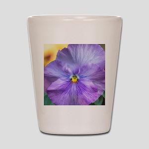 Lavender Pansy Shot Glass