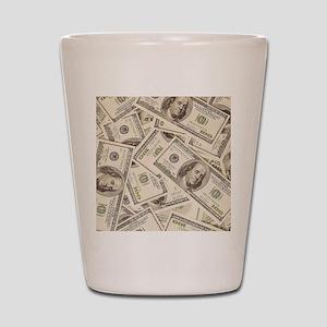 Dollar Bills Shot Glass
