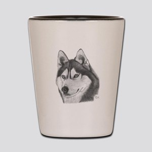 Siberian Husky Shot Glass