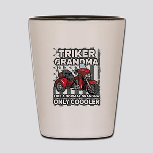 Motorcycle Triker Grandma Shot Glass