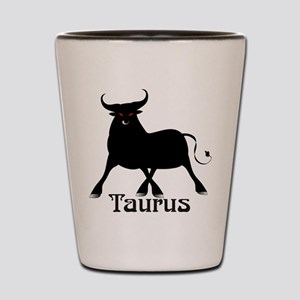 Whimsical Taurus Shot Glass