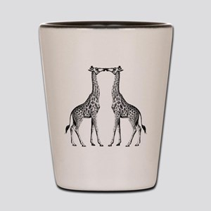 Giraffes Kissing Shot Glass