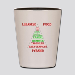 Lebanese Food Pyramid Shot Glass
