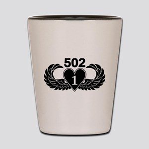 1-502 Black Heart Shot Glass