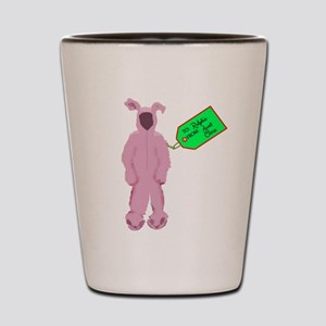 Christmas Story Pink Bunny Suit Shot Glass