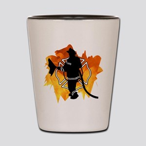 Firefighter Flames Shot Glass