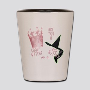 good bad witches Shot Glass