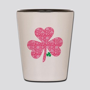 Pink Shamrocks Wee Green Shot Glass