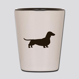 Dachshund Silhouette Shot Glass