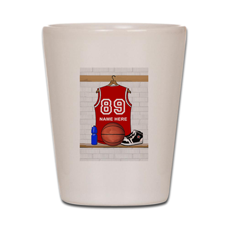 Personalized Basketball Jerse Shot Glass
