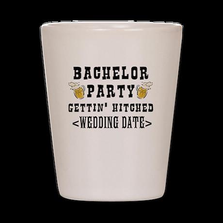 Bachelor Party (Wedding Date) Shot Glass
