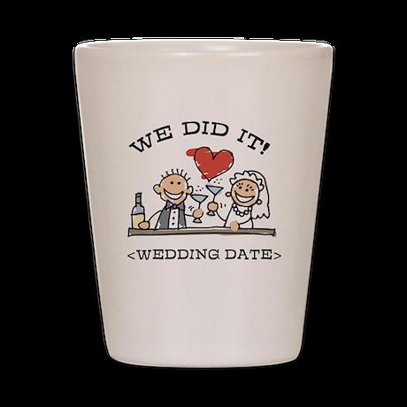 Funny Personalized Wedding Shot Glass