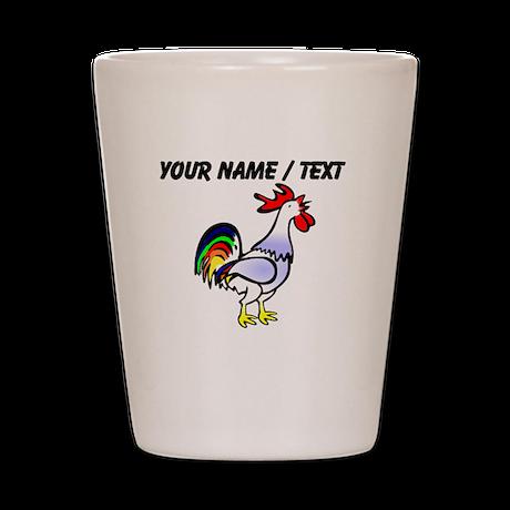 Custom Rooster Shot Glass