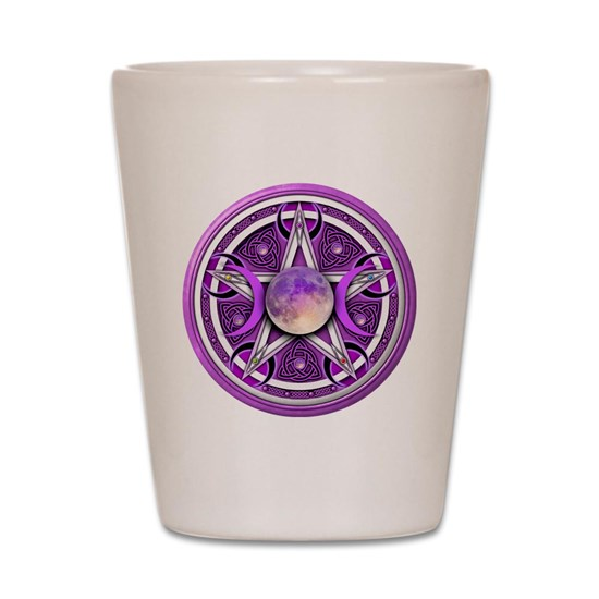 Purple Triple Goddess Pentacle