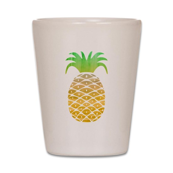 c68e55cc33e30 Colorful Pineapple Shot Glass by MissThree - CafePress