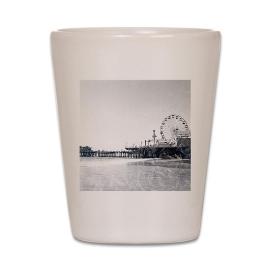 Frosted Santa Monica Pier Shot Glass by Christine aka stine1 on Cafepress