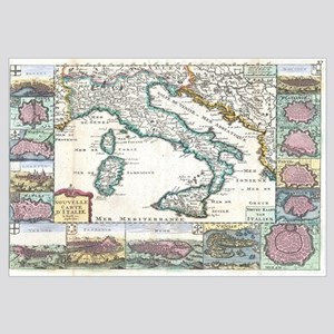 Vintage Map of Italy (1706)