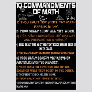 Math 10 Commandments