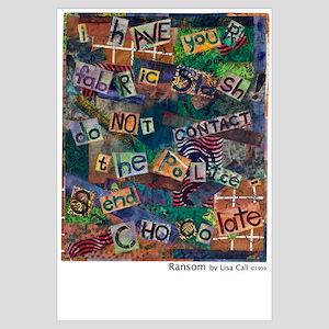 Ransom Note Art Quilt